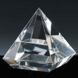 Elevated Pyramid Award, Optical Crystal PERSONALISED 70mm ref CEP70